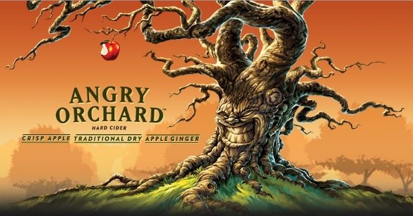 Angry Orchard Cinnful Apple beer Label Full Size