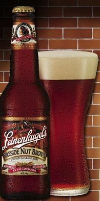 Leinenkugel's Fireside Nut Brown beer Label Full Size