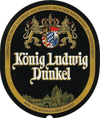 Konig Ludwig Weissbier Dunkel beer Label Full Size