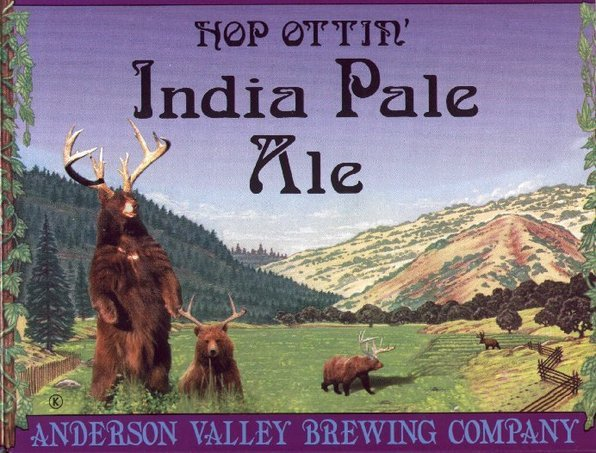 Anderson Valley Hop Ottin' IPA beer Label Full Size