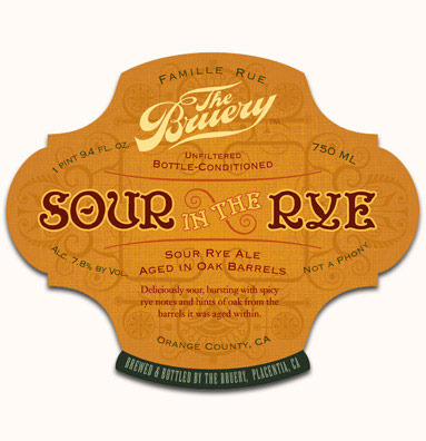 Bruery Sour In The Rye with Peaches beer Label Full Size