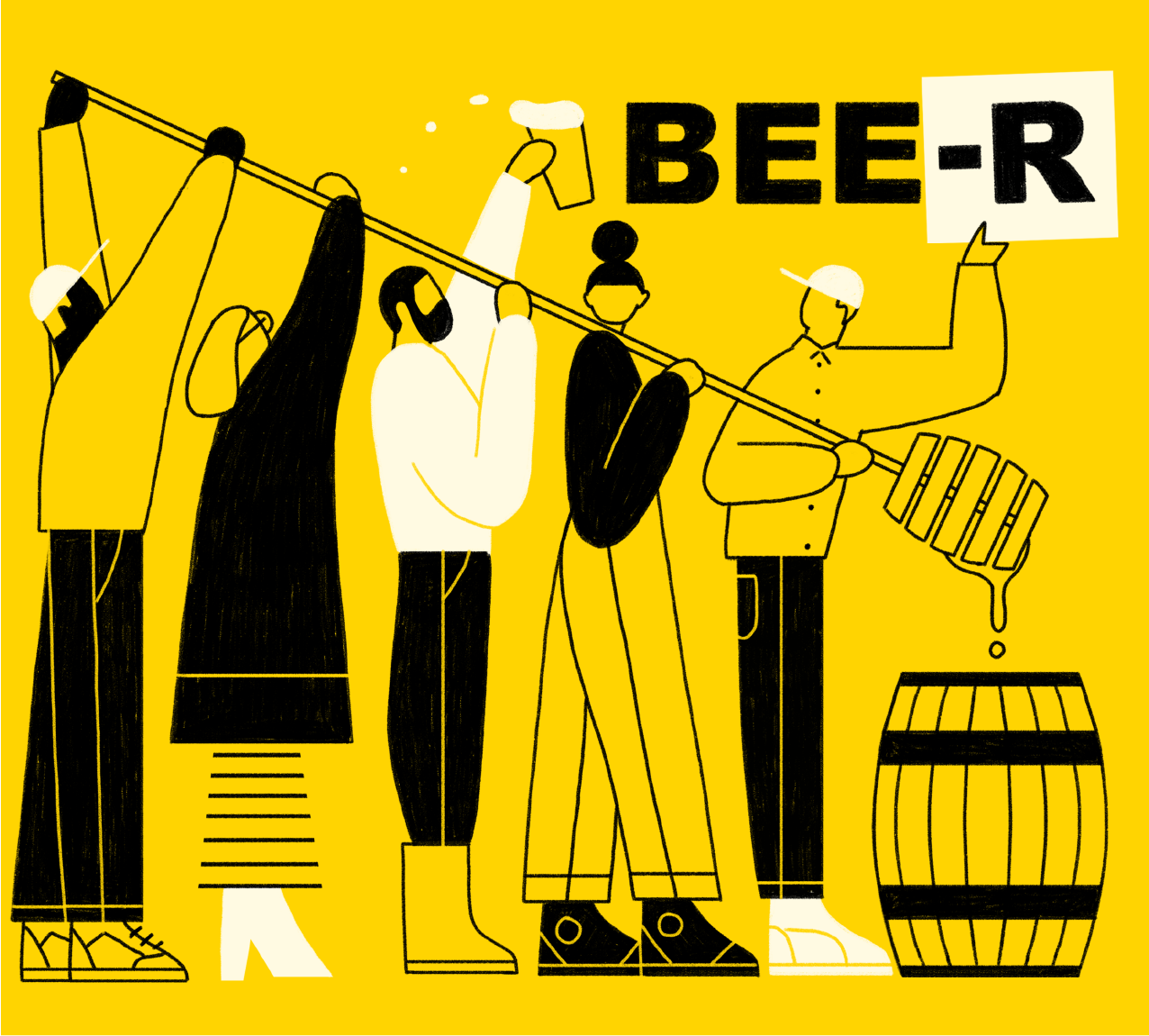 Five Boroughs BEE-R beer Label Full Size