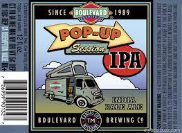 Boulevard Pop-Up Session IPA beer Label Full Size