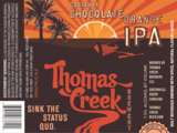 Thomas Creek Castaway Chocolate Orange IPA Beer