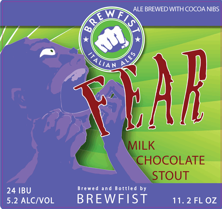 Brewfist Fear beer Label Full Size