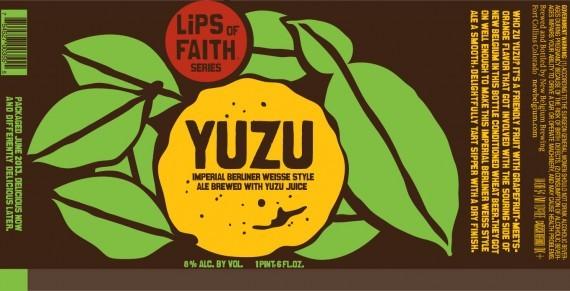 New Belgium Lips of Faith: Yuzu beer Label Full Size