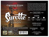 Crooked Stave Surette Provision Saison Beer