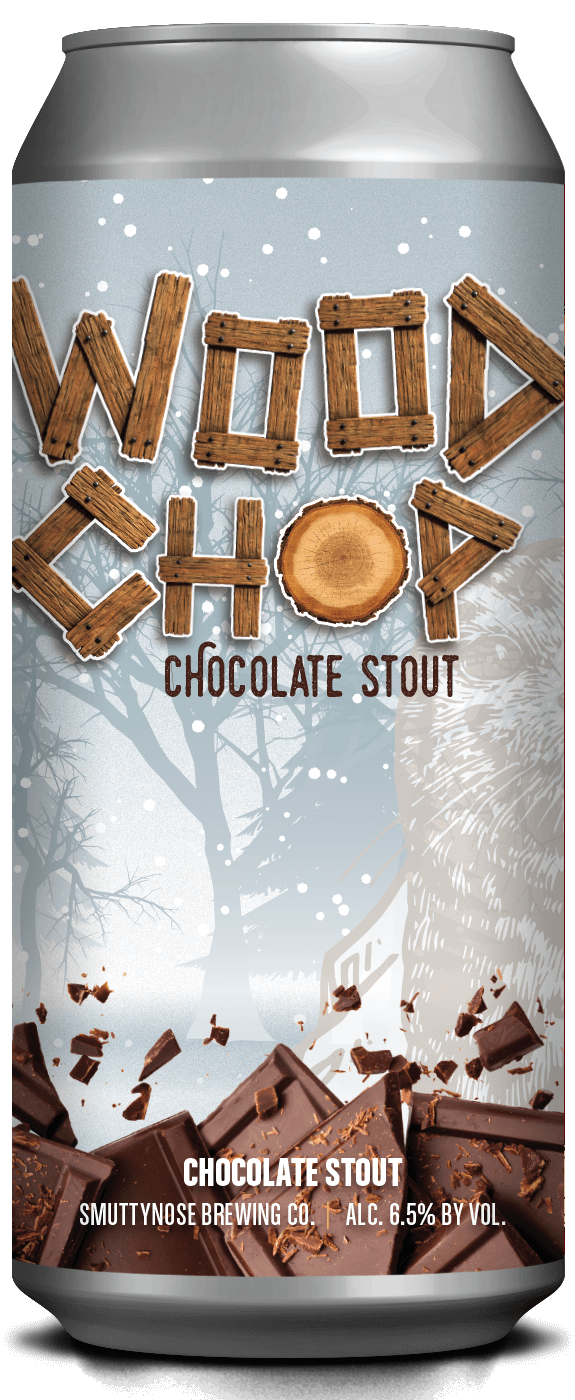 Smuttynose Wood Chop Chocolate Stout beer Label Full Size