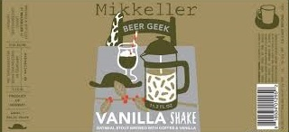 Mikkeller Beer Geek Vanilla Shake beer Label Full Size