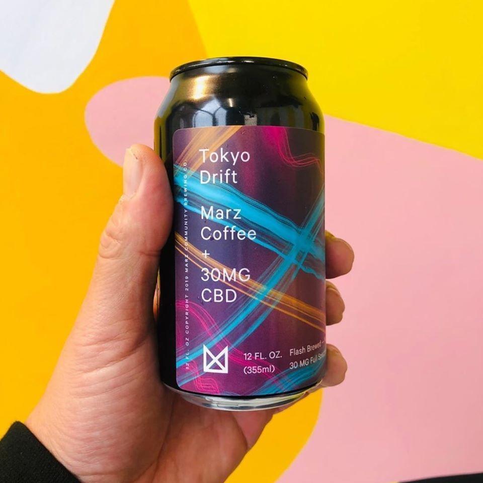 Marz Tokyo Drift Coffee + CBD beer Label Full Size