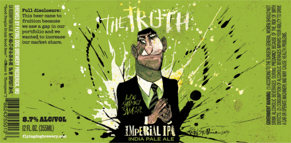 Flying Dog The Truth beer Label Full Size