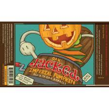 Uinta Crooked Line Oak Jacked Imperial Pumpkin beer Label Full Size