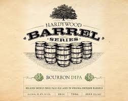 Hardywood Park Bourbon DIPA beer Label Full Size