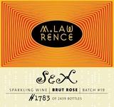 M. Lawrence Sex Brut Rosé wine