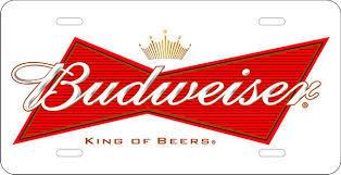 Budweiser Aluminum beer Label Full Size