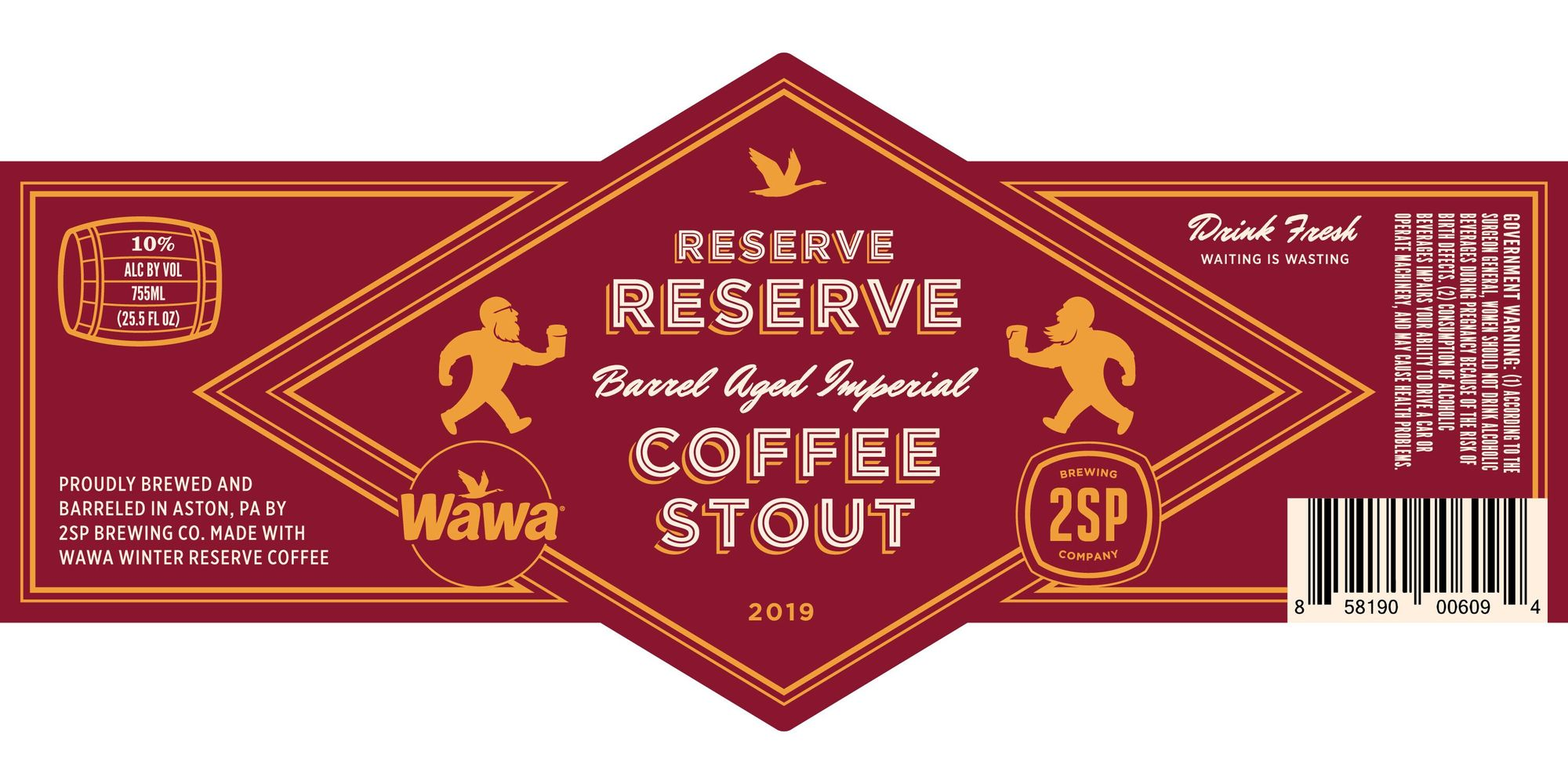 2SP + WAWA Reserve Reserve beer Label Full Size