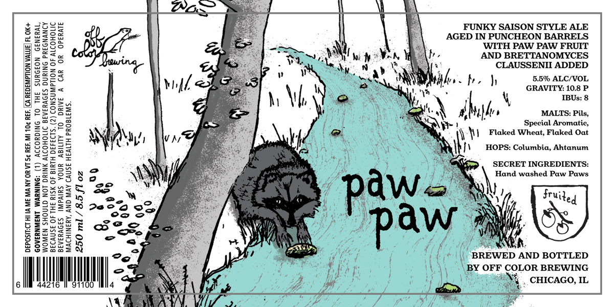 Off Color Paw Paw beer Label Full Size