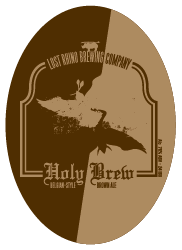 Lost Rhino Holy Brew Brown Ale beer Label Full Size