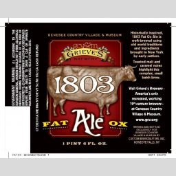 Custom Brewcrafters 1803 Fat Ox Ale beer Label Full Size