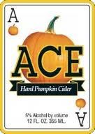 Ace Hard Pumpkin Cider beer Label Full Size