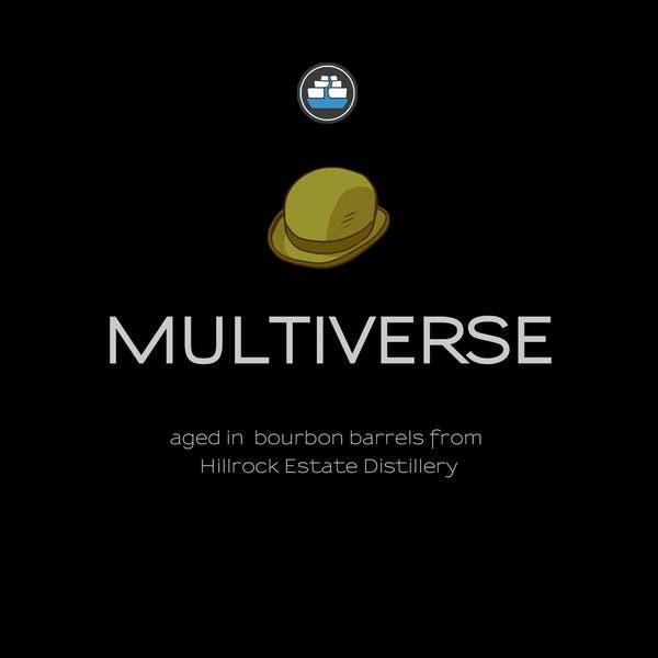 Kent Falls Multiverse Bourbon Barrel Aged beer Label Full Size