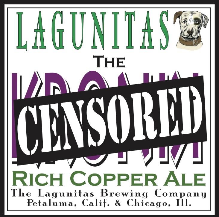 Lagunitas Censored beer Label Full Size