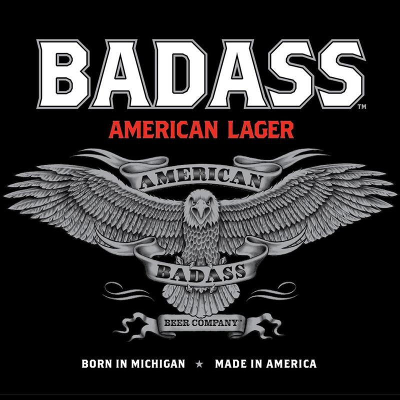 Kid Rock's Badass Beer beer Label Full Size