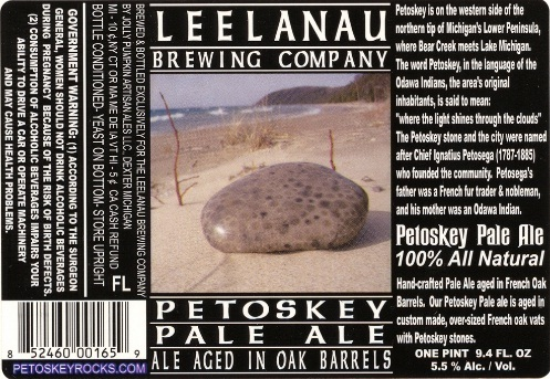 Leelanau Petoskey Pale Ale beer Label Full Size