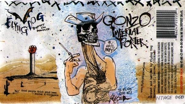 Flying Dog Gonzo Imperial Porter beer Label Full Size