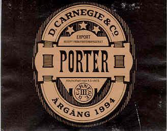 Carnegie Porter beer Label Full Size