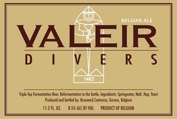 Contreras Valeir Divers beer Label Full Size