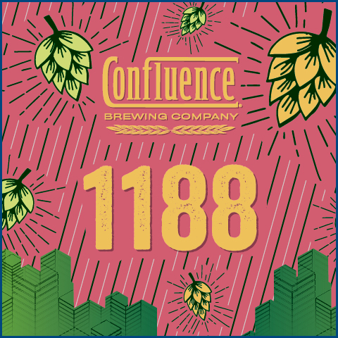 Batch 1188 Hazy Double Ipa beer Label Full Size