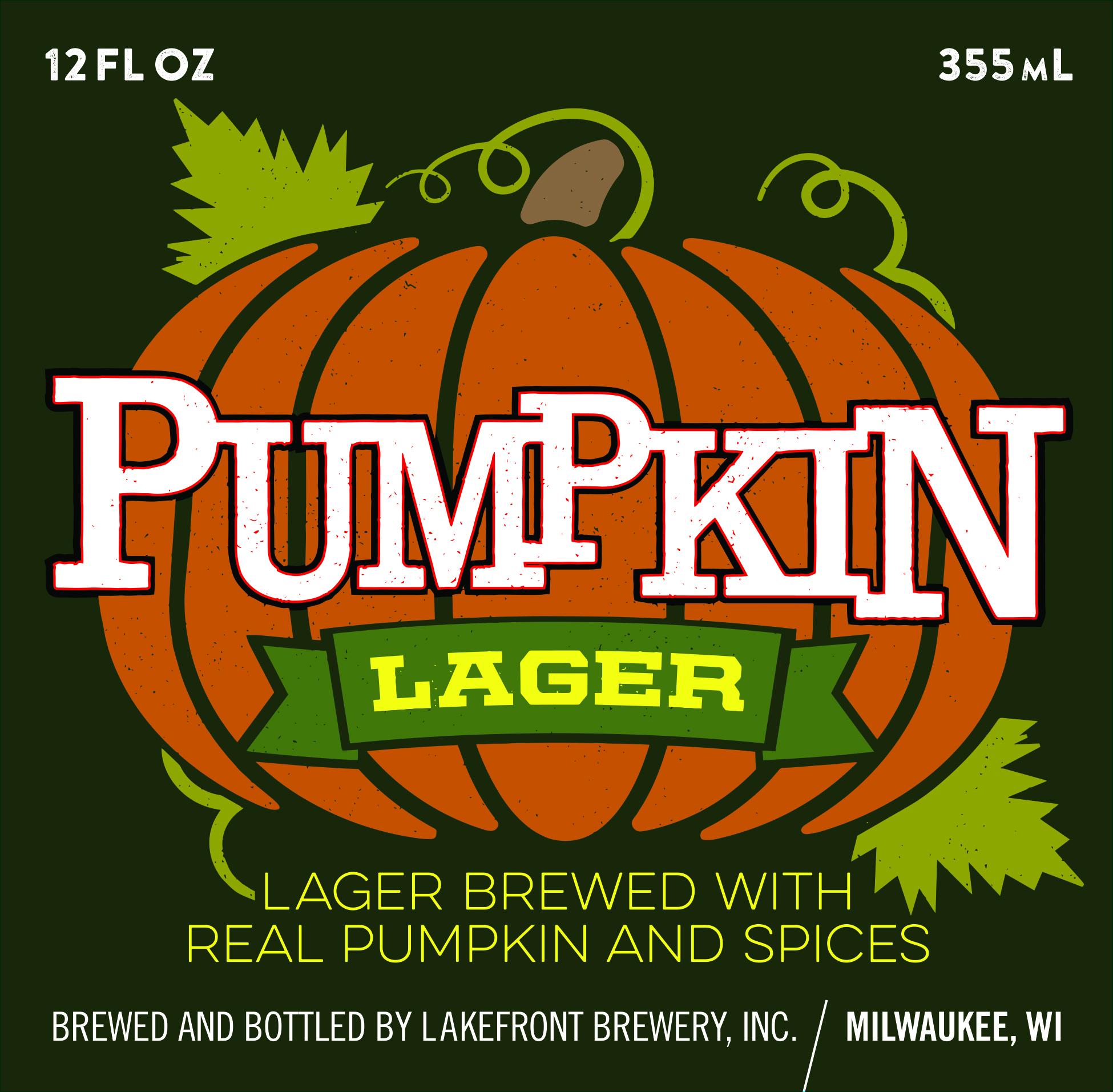Lakefront Pumpkin Lager beer Label Full Size