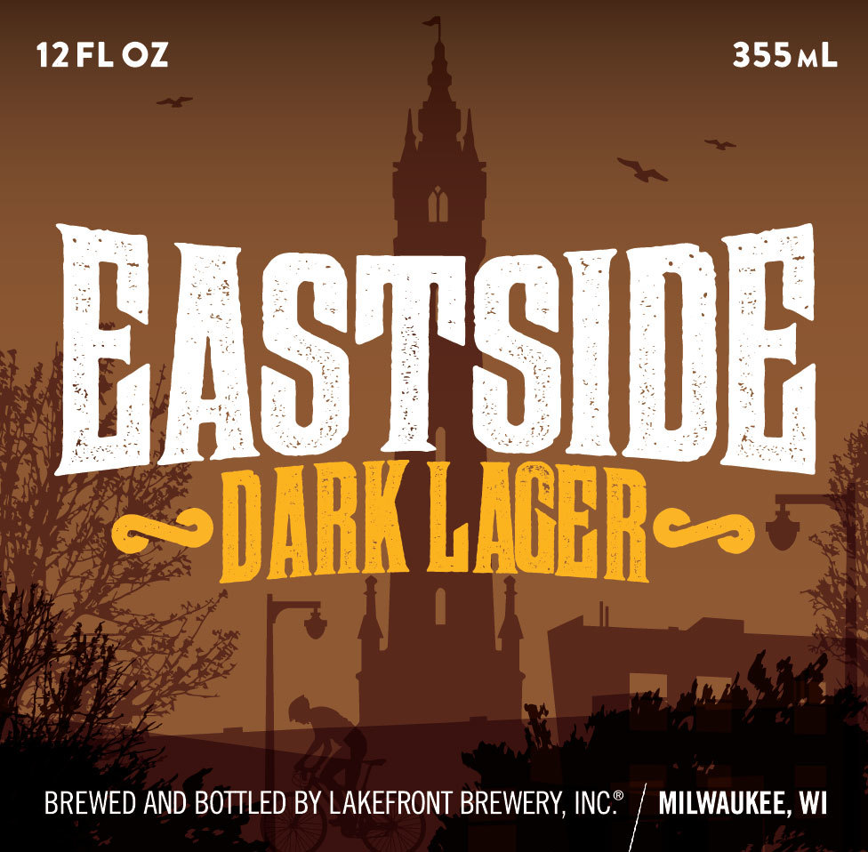 Lakefront Eastside Dark beer Label Full Size