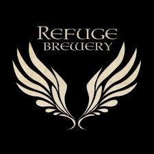 Refuge Blood Orange Wit beer Label Full Size