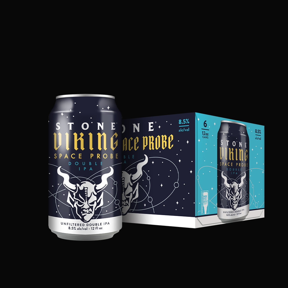 Stone Viking Space Probe Double IPA beer Label Full Size