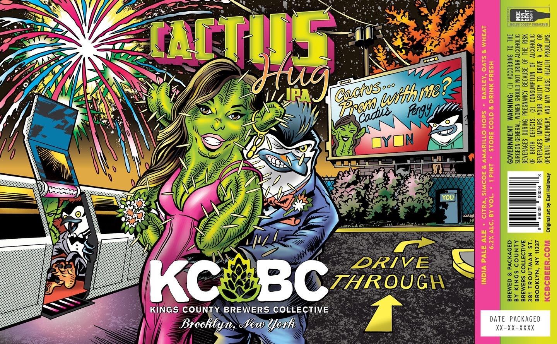 KCBC Cactus Hug beer Label Full Size