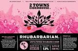2 Towns Rhubarbarian Cider beer