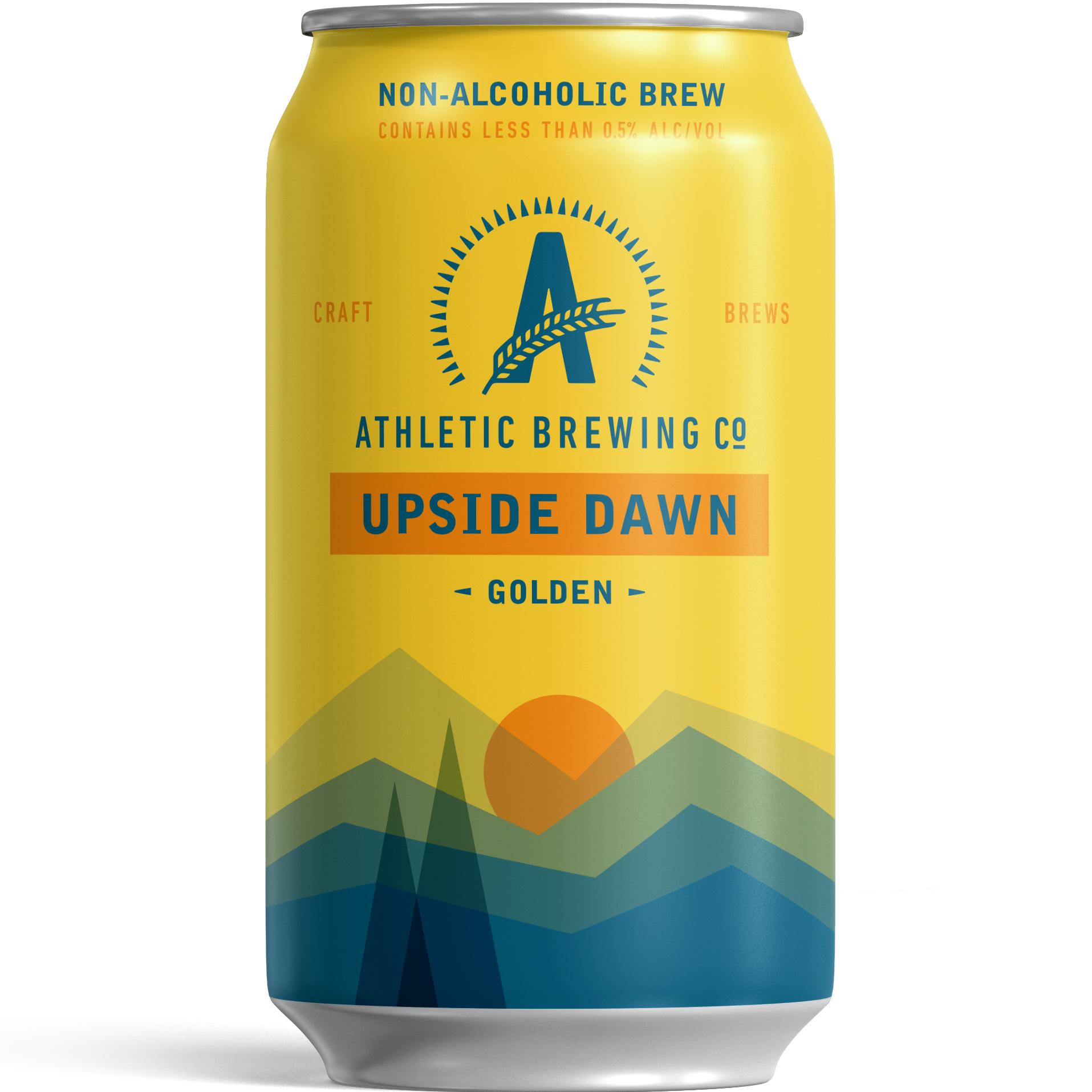 Athletic Upside Dawn NA Golden Ale beer Label Full Size