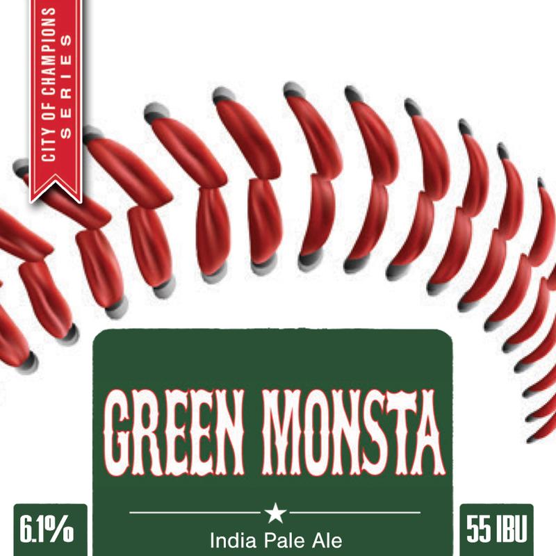 Wachusett Green Monsta IPA beer Label Full Size