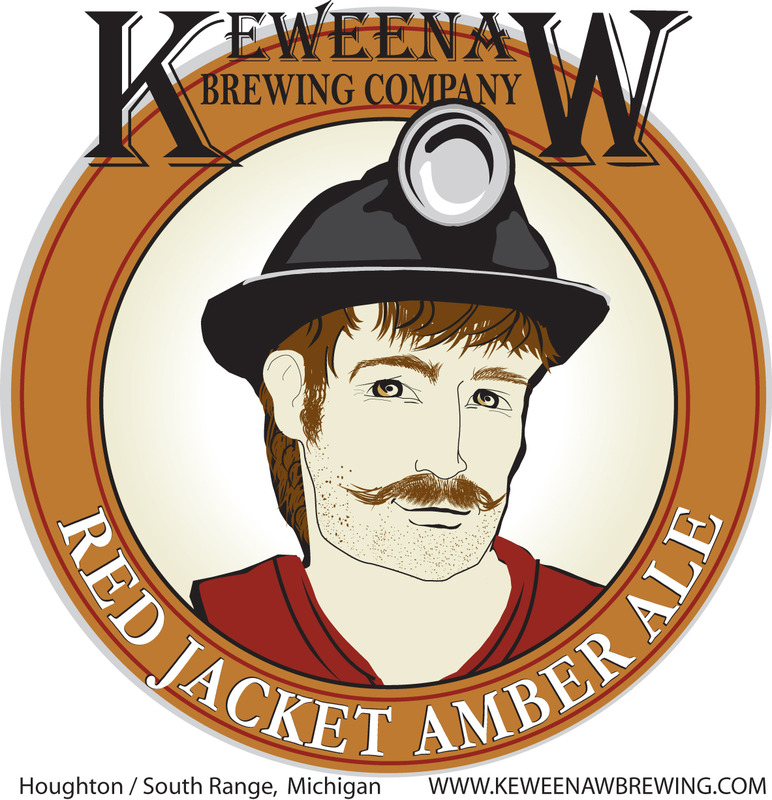 Keeweenaw Red Jacket Amber Ale beer Label Full Size