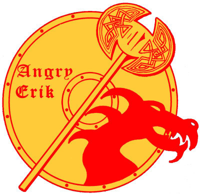 Angry Erik X's and Ale's beer Label Full Size