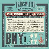Transmitter BNY1 Pre-Prohibition Pilsner beer