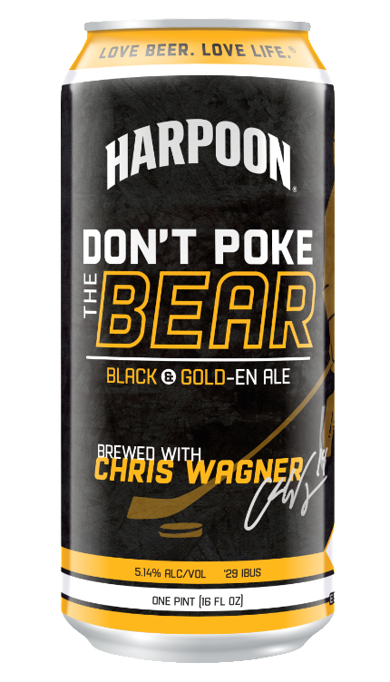 Harpoon Don't Poke The Bear beer Label Full Size