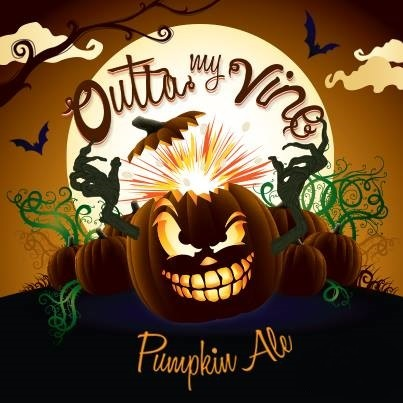 Crooked Ladder Outta My Vine Pumpkin beer Label Full Size