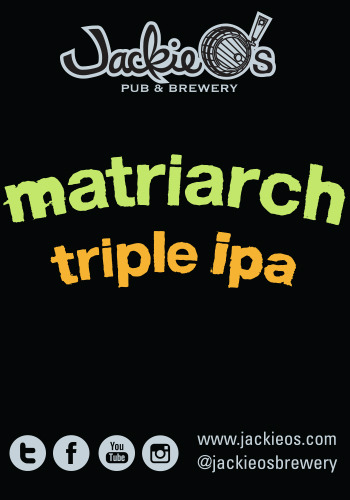 Jackie O's Matriarch Triple IPA beer Label Full Size