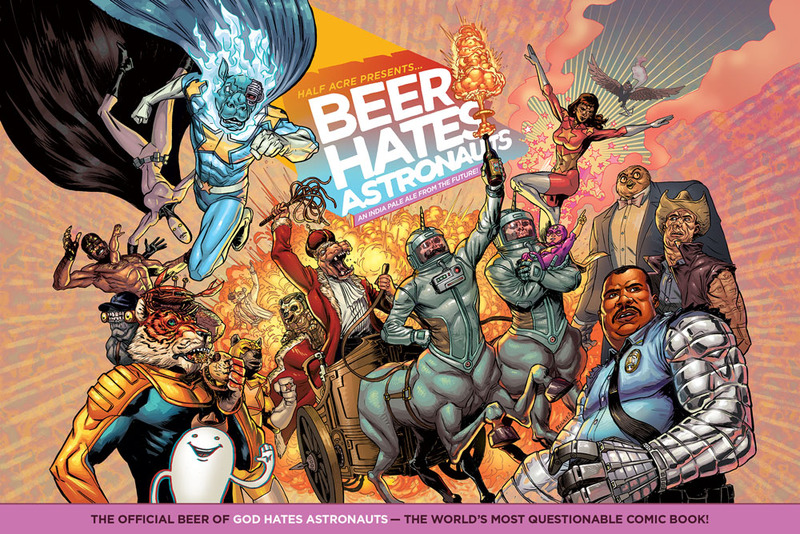Half Acre Beer Hates Astronauts beer Label Full Size