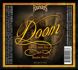 Founder's Doom Bourbon Barrel Aged Imperial IPA Beer