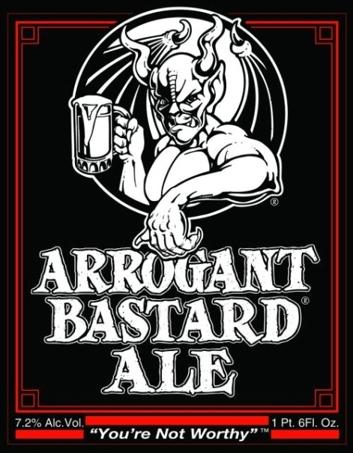Stone Arrogant Bastard beer Label Full Size