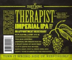 Dust Bowl Therapist beer Label Full Size